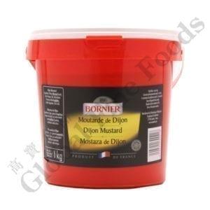 Dijon Mustard in Plastic Pail